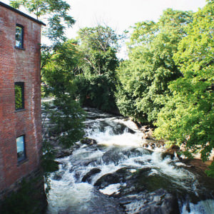 waterfall outside roundhouse summer