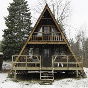 snowy-a-frame-cabin