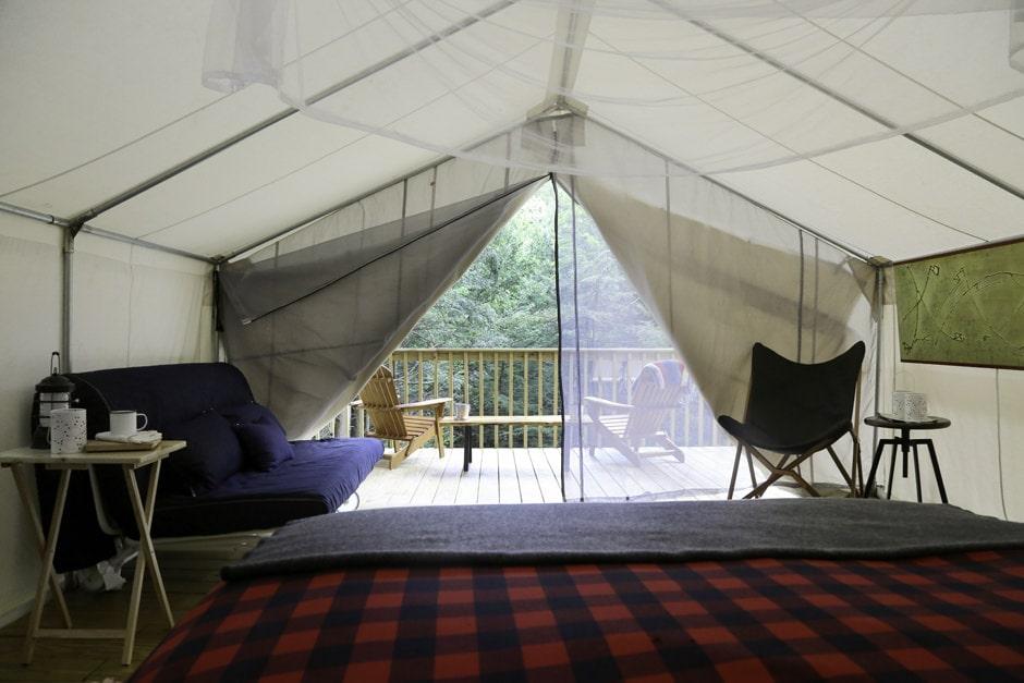 Private Catskills Camping at Hemlock Falls in Parksville, NY